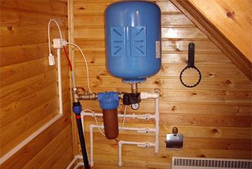 Özel bir evde su temini ve kanalizasyon prensibi