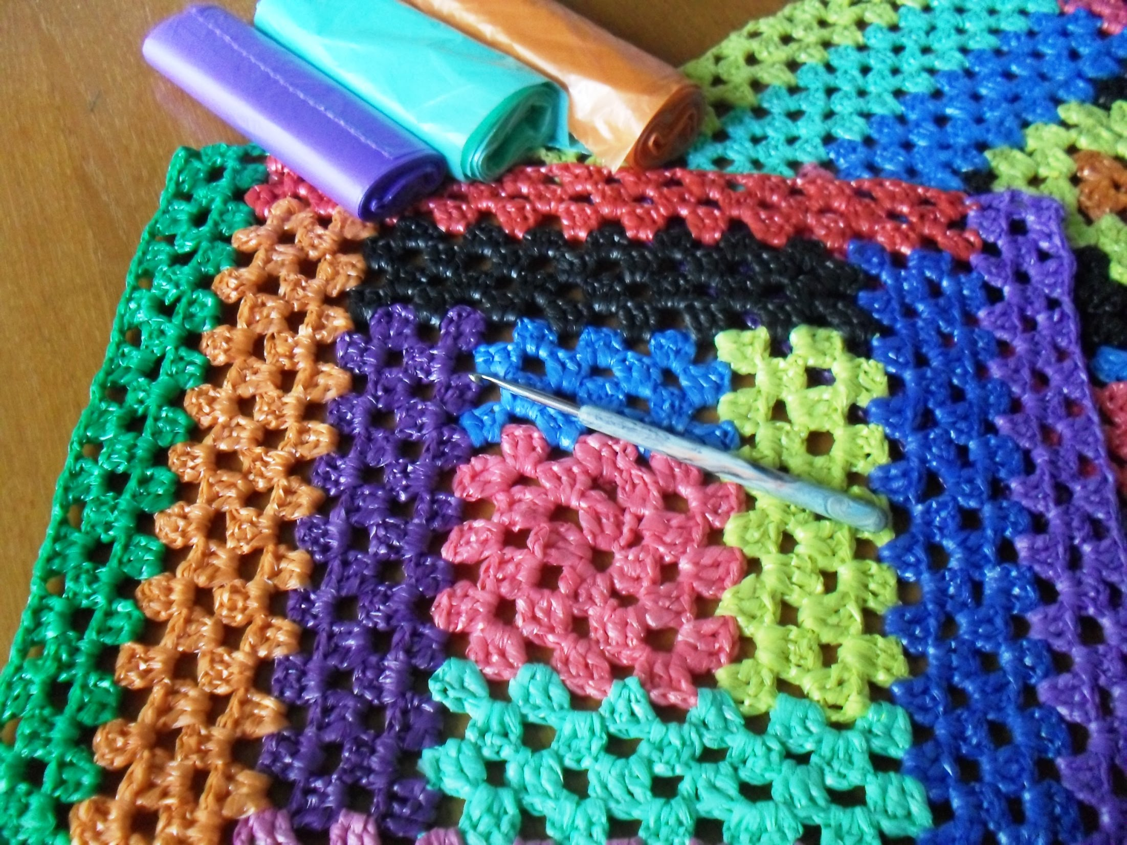 Крючки для вязания схемы из пакетов коврики